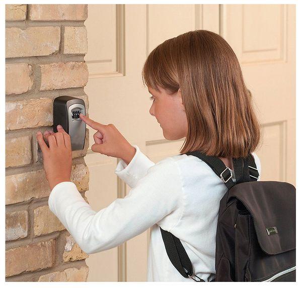 4 Digit Wall Mounted Combination Password Keys Hook Organizer Boxes Outdoor Safe Key Box Key Storage Organizer