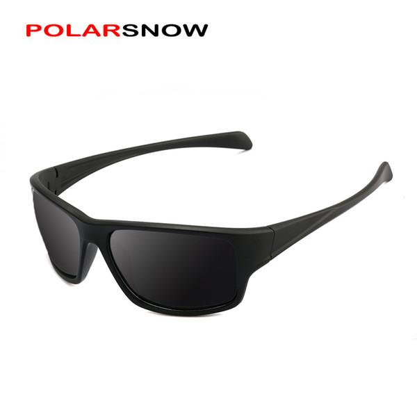 POLARSNOW Işık Klasik Erkekler Güneş Gözlüğü Polarize Kare Erkek Gözlük Gölge Sürüş Gözlük Güneş Gözlükleri ulosculos Gafas PS8703