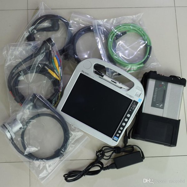 UPER for mb star c5 diagnosis hdd 320gb laptop cf-h2 i5 4g touch screen ready to use for 12v 24v best