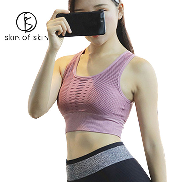 2018 Hollow Reggiseno sportivo delle nuove donne di nylon -proof Esecuzione Biancheria intima femminile Yoga Raccogliere Stereotype Torna Vest Tipo Bra fitness