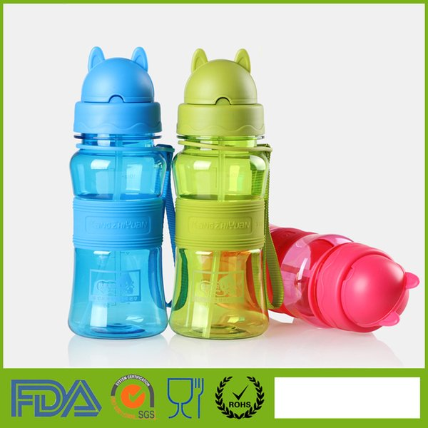 Drinkware Water Bottles 300ml My Drinking Water Bottle With Straw For School Children Kids Baby Cute Plastic Portable Sports Travel Tumbler