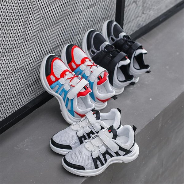 High quality children's sneakers spring summer new children's shoes boys breathable net shoes running shoes girls casual sneakers