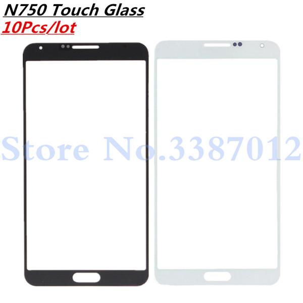 10 Pz / lotto Per Galaxy Note3 Neo Note 3 Neo N750 N7505 Vetro Frontale Touch Screen Parte di Riparazione del Pannello Esterno