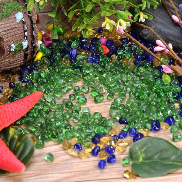 Artificielle En Plastique Bleu Léger Pierre Réservoir De Poissons Aquarium Fond Décoration Acrylique Verre Pebbles Ornement Passerelle Jardin Fournitures de Maison