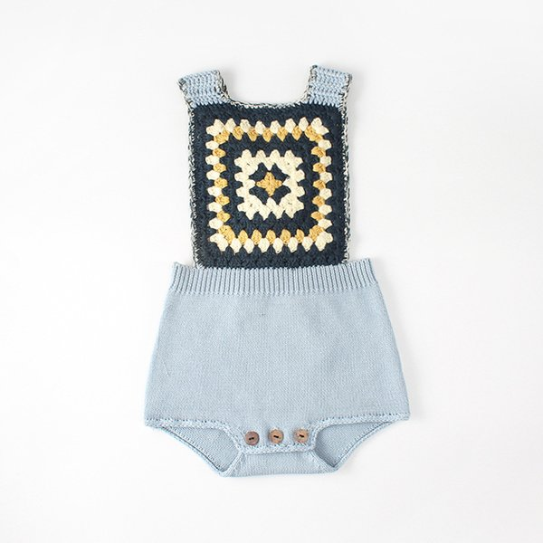 cdb81e616e2d Everweekend Baby Girls Boys Vintage Knitted Sweater Rompers Candy Color  Crochet Spring Autumn Toddler Baby Clothing
