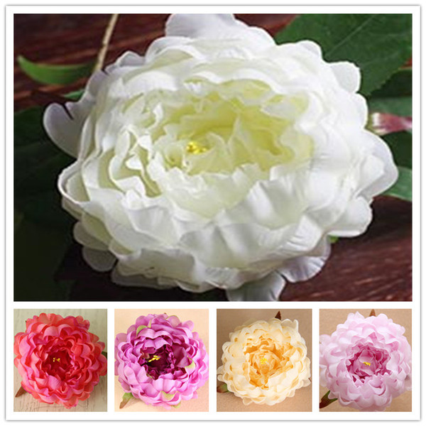 Artificial Peony flowers Heads Peony 4.7inch Big Rose Flower Heads wholesale for Wedding Decor,Flower Wreath, Flower Garland,Flower Ball