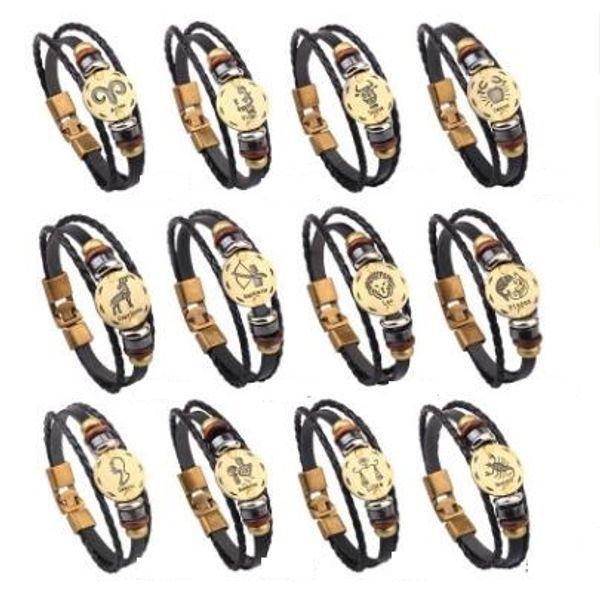 Созвездие настоящие воловьи браслеты ручной работы двенадцать повезло бисером независимая упаковка мешок хорошее качество ювелирных изделий 442