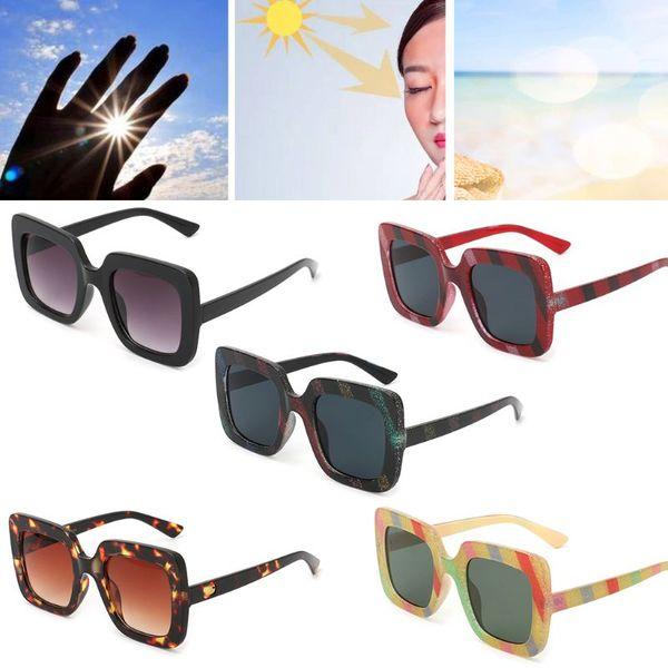 New Chic Sunglasses Large Frame Fashion Driving Mirror Square UV400 Eyewear