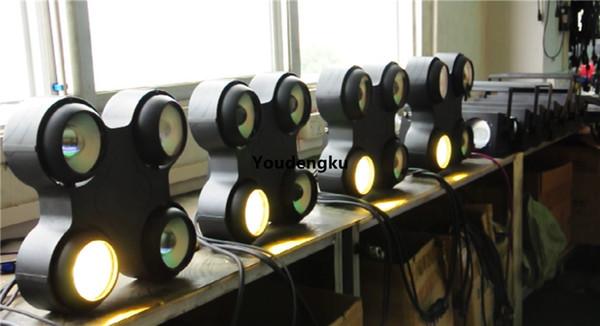 6 adet 4 Gözler dmx koçanı Seyirci 4x100 w koçanı rgbw 4 in1 dmx wateproof led blinder matrix ışık