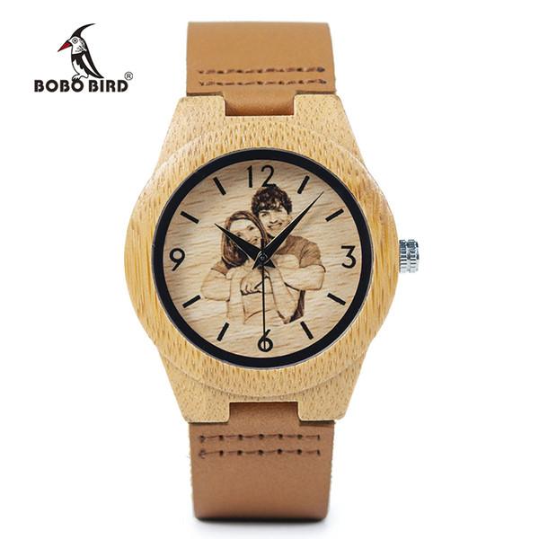 Бобо птица творческий подарок деревянные часы Мужчины Женщины фотографии УФ печать на деревянные часы OEM индивидуальные подарок