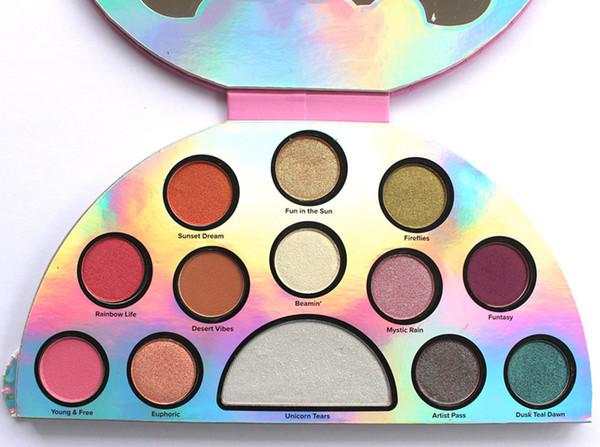 Top Quality Life's A Festival Eyeshadow Palette Rainbow Peace Love Eye Shadow 13 color Palett DHL
