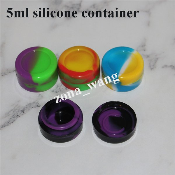 Wholesale Silicone Wax Containers Oil Non-stick Silicone Silicon Oil 5mL Containers Jars Wax vaporizer penvaporizer vape FDA approved