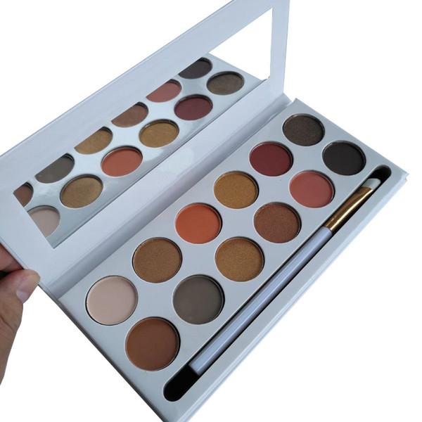 Marken Make-up Lidschatten-Palette 12 Farben Bronze von Presspulver Burgund Royal Peach Lila Urlaub Ich will alles Eye shaodws Plaettes