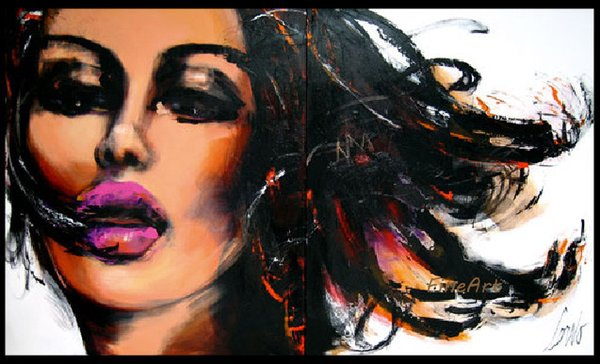 handmade good quality pop art oil painting beautiful woman canvas art discount wall art quotes living room decoration home