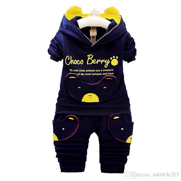 Baby Casual Suit Children Spring Autumn Tracksuit Boys Girls Long sleeve Clothes Children Devil Panda Hoodie and Pants Set Kids Clothing