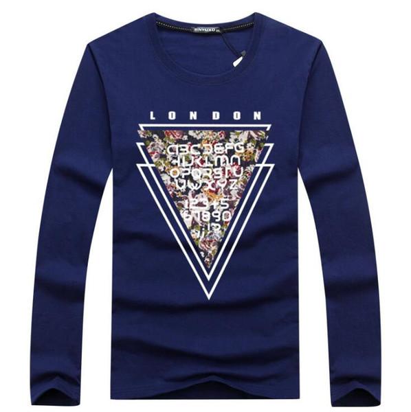 fashion Long Sleeve T Shirt Men New High quality Premium Cotton T-Shirts Casual Slim Fit elastic male tshirt 5XL G06