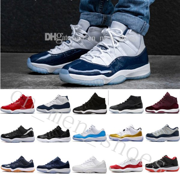 Drop Shipping Cheap New 11 Gym Red UNC 11 Low Barons 11s Space Jam Bred Men Basketball Sports Shoes Ship with box size US 5.5-13 Eur 36-47