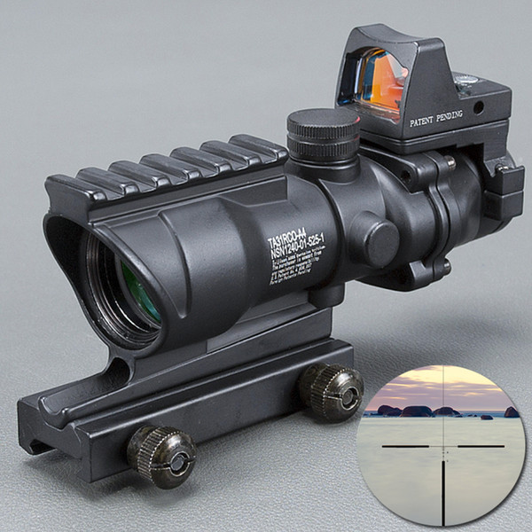 Trijicon Riflescope 20mm Dovetail 반사 광학 범위 전술 한숨 무료 ACOG 4X32 고품질 스코프 망원경 BK