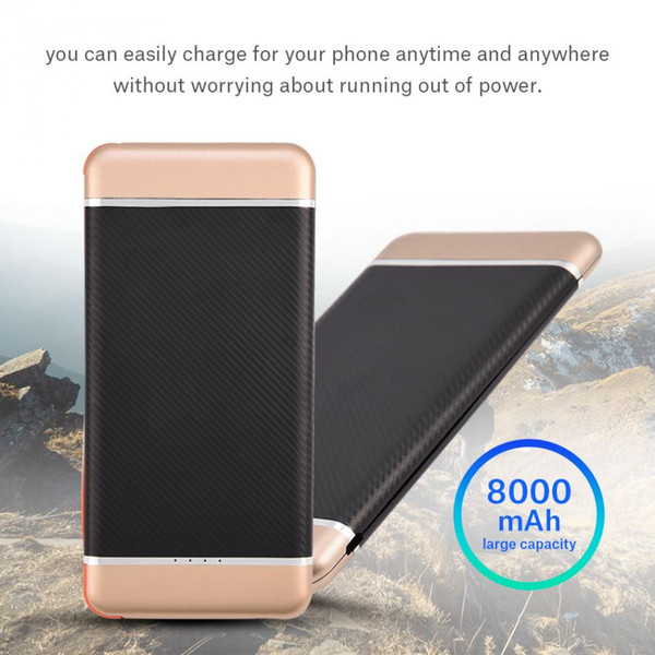 best selling Ultra-thin Portable Outdoor Fast Charge Mobile Power Bank Case Kit Need install 7565121 Polymer Battery(Not include battery)