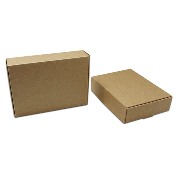 Vintage Brown Paperboard Gifts Wrapping Box Party Wedding Favors Kraft Paper Carton Box Soap Jewelry Packaging Paper Box 20PCS