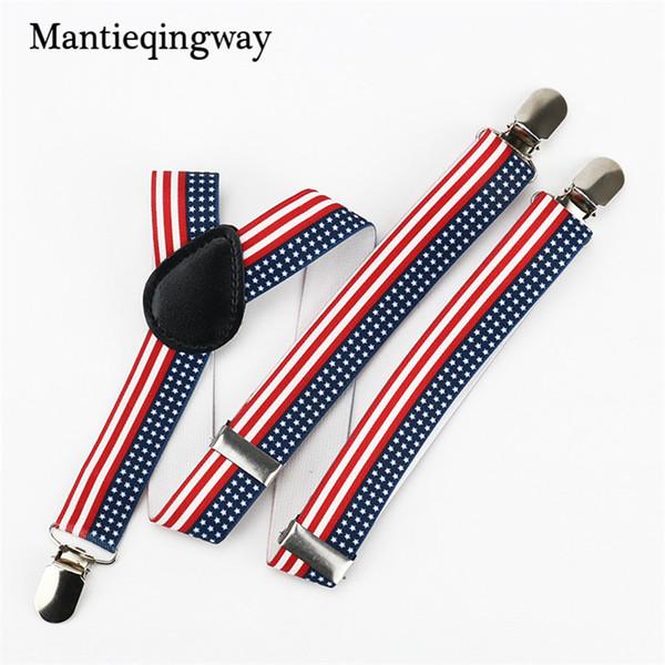 Fashion 2.5cm Elastic Suspenders for Kids Boys Girls Leather Suspender Brace Belt Strap Children Wedding Braces