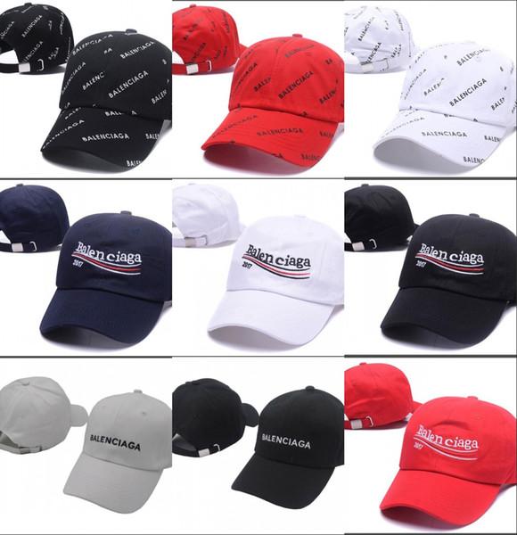 2018 kpop VETEMENTS Büyük Baba 18FW BNIB Beyaz Unisex Logo Beyzbol Şapkası Ayarlanabilir baba taktik beyzbol şapkası y-3 kap casquette