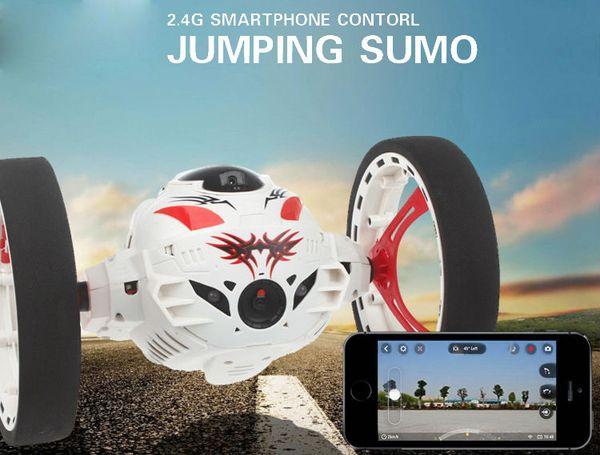 Macchina RC con fotocamera 2.0mp Salto Sumo WIFI Bounce Car PEG SJ88 4CH 2.4GHz RC Auto con ruote flessibili Telecomando FSWB