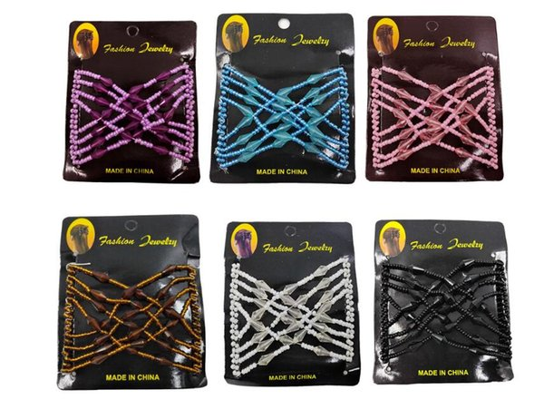 Girls Head Clip Comb Party Hair Styling Magic Double Slide Stretchy Clip Gift Variety hair Comb Hair Wire Headwear