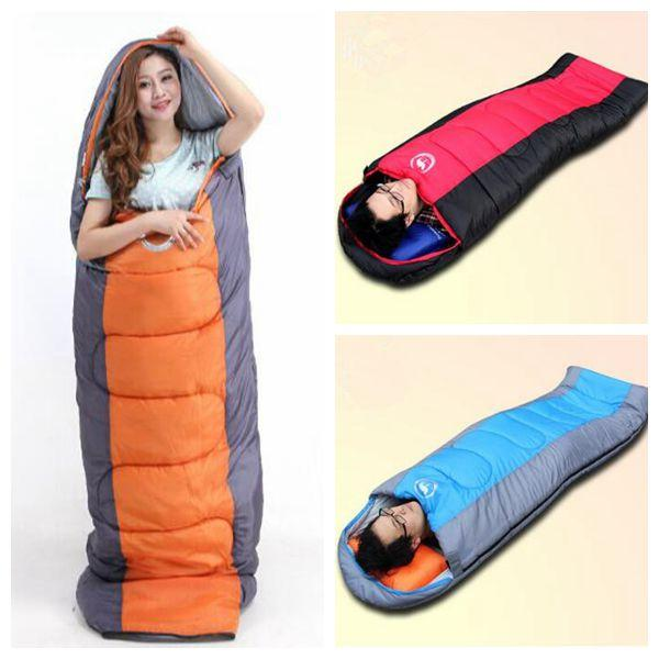 3 Colors Outdoor Pads Air Sleeping Bag Unisex Hiking Travel Camping Water Resistant Thick Sleeping Bed Office Sleeping Bags CCA9376 12pcs