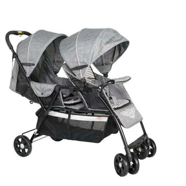 Leichter faltbarer Zwilling-Kinderwagen Wagen, Nettogewicht 9.6KG Neugeborener Zwilling-Spaziergänger mit 8 Rädern, justieren Sitz Pram