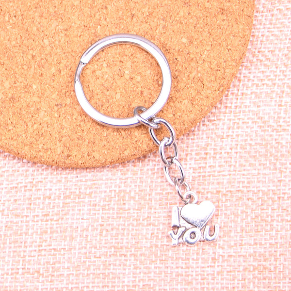 New Fashion 15*14mm heart I love you KeyChain, New Fashion Handmade Metal Keychain Party Gift