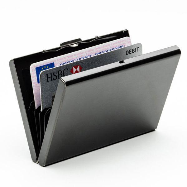 Geschäftsbankkreditkartenkasten, magnetische Organkarte des Edelstahlmetalls, Visitenkartengroßhandel mit 6 Karten.