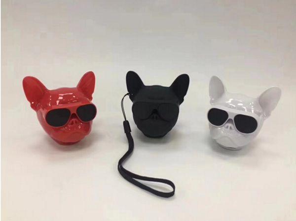 Cool Design Bulldog Bluetooth Speaker Wireless Speakers Portable Stereo Subwoofers Handsfree Bull dog Speaker for Smartphones Retail package