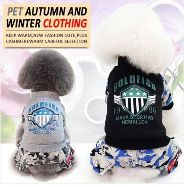 Fashion 2019 Wholesales free shipping Autumn and winter pet clothes sports four-legged warm cotton coat dog clothing