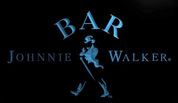 LS738-b-BAR Johnnie Walker Whiskey 3D LED Neon Light Sign Customize on Demand 8 colors to choose