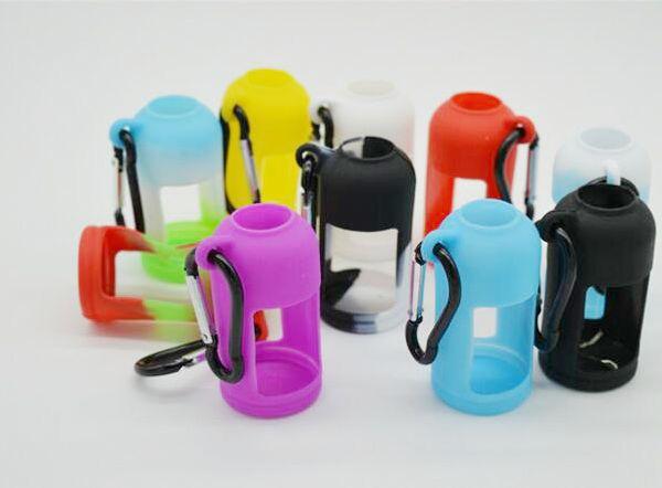 Custodia in silicone per bottiglie di liquido E Custodia morbida Custodia protettiva Vetrina colorata Misura E Bottiglia per succo 30 ML Custodia in gomma siliconica DHL