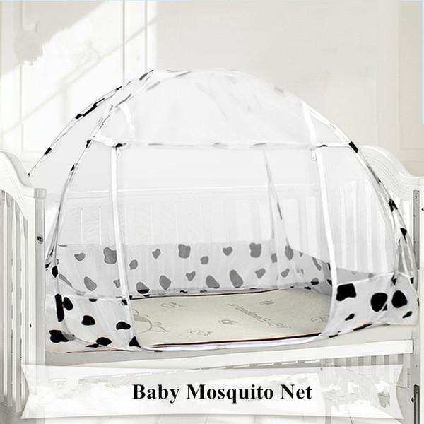 120 * 80 cm Floding Cama de Bebê Mongol Yurt Mosquito Net Berço Portátil Mosquito Net Travel Zipper Porta Camas