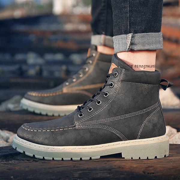 Acquista 2019 Scarpe Invernali Da Uomo Stivali Da Uomo Stivaletti Da Uomo Autunno Autunno Inverno Botas Uomo Scarpe Di Marca A411 Sneakers A $40.36