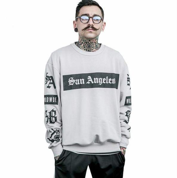 Male Sweatshirt Men Skateboard Tracksuit Hip Hop Clothing Oversized Kanye West Tiger Printed Swag Hoodies Free Shipping