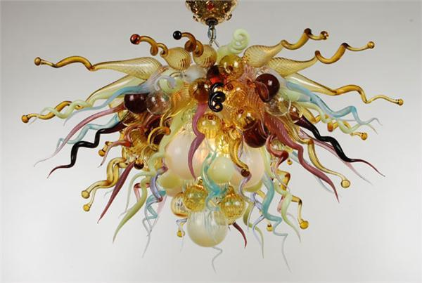 Beautiful Multi Colored Glass Light Fixture Italy Dale Chihuly Style Pendant Lamp for Kitchen Bar Cafe House Decor