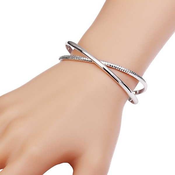 New Fashion Trendy 2 Layer Twist Bangles Viking Gold Color Bangles for Women Alloy Open Bracelets Man Arm Cuff Female Jewelry