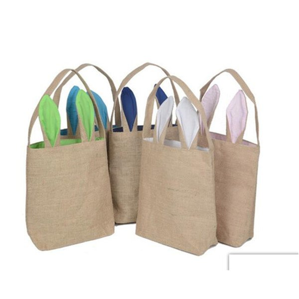 New Easter Carrier Bag Bunny Ears Cotton Cloth Bags DIY Canvas Handbag For Children Festival Gifts Bag