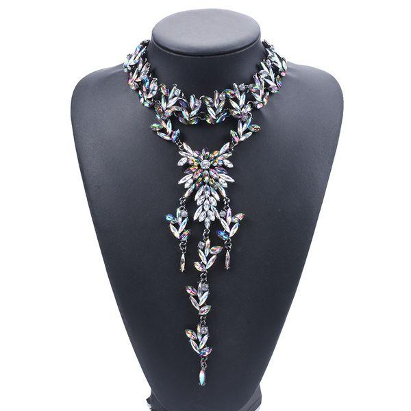 Gorgeous declaración collar para mujer señora colgante choker choker formal accesorio de la boda del banquete diario 3 colores 1 unid