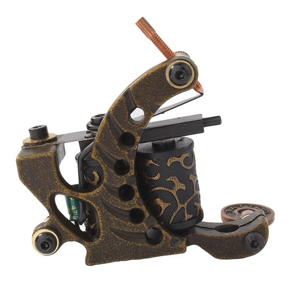 Profession and Handmade Coil Tattoo Gun 10 Wrap Coils Copper Frame for Liner Shader Coloring Tattoo Machine