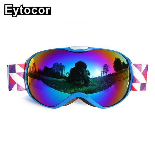 EYTOCOR New UV400 Protection Children Ski Goggles Girls Boys Snowboarding Skiing Glasses Anti-fog Kids Winter Snow Child Eyewear