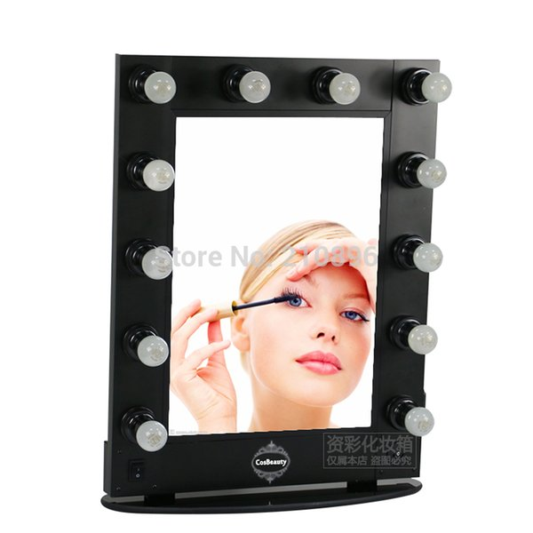 personalized multifunction makeup mirror Bag with lights Beautiful Cosmetic Mirror case
