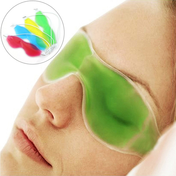 top popular Ice Eye Mask Shading Summer Ice Goggles Relieve Eye Fatigue Remove Dark Circles Eye Gel Ice Pack Sleeping Masks CCA8670 600pcs 2019