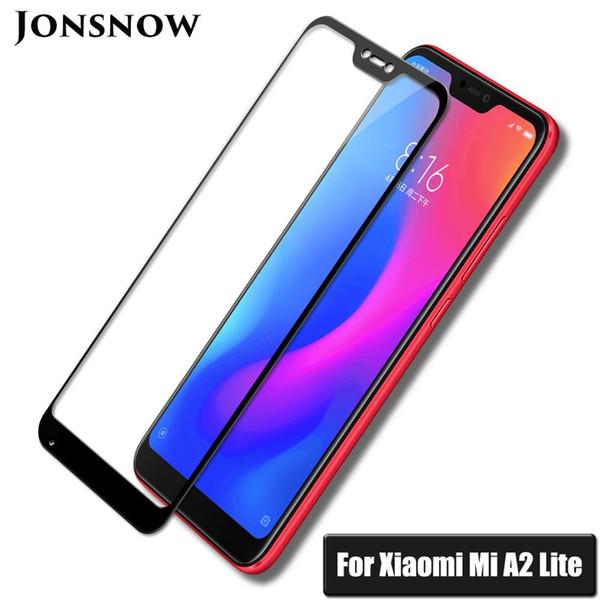 JONSNOW Vidrio de cobertura total para Xiaomi Mi A2 Lite 5.84
