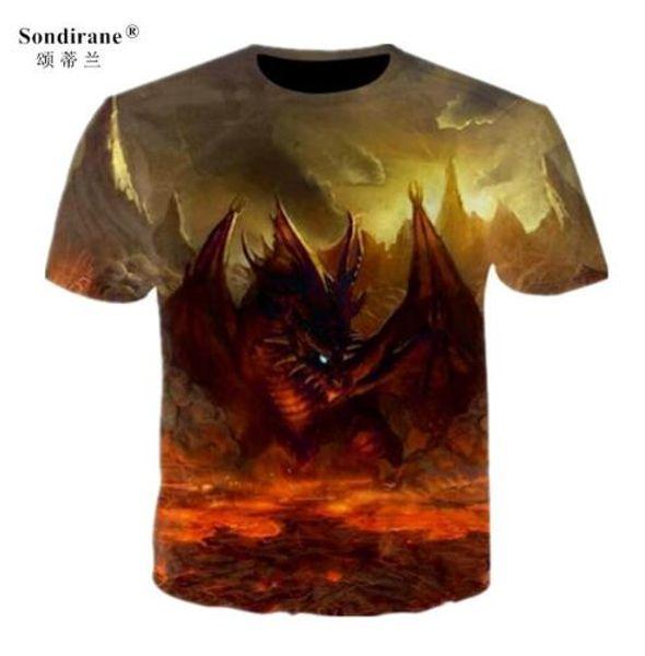 Hot Women/men animal dragon 3D print Short Sleeve Casual Tops T-Shirt Short Sleeve Quick Dry T Shirt Comfortable tees