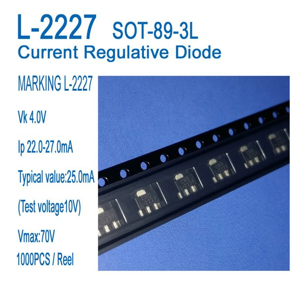best selling CRD, Current regulative Diode L-2227 SOT-89-3L Application to LED fluorescent lamp, LED bulb light, LED small power products